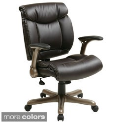 Office Star Products 'Work Smart' Eco Leather Seat and Back Executive Chair Model ECH8967