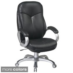 Office Star Products 'Work Smart' Eco Leather Seat and Back Executive Chair Model ECH6630
