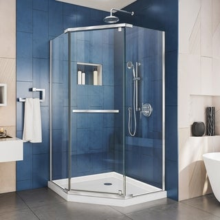 DreamLine Prism 36-1/8 x 36-1/8 Frameless Pivot Shower Enclosure
