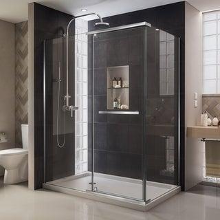 DreamLine Quatra 32-5/16 x 46-5/16 Frameless Pivot Shower Enclosure