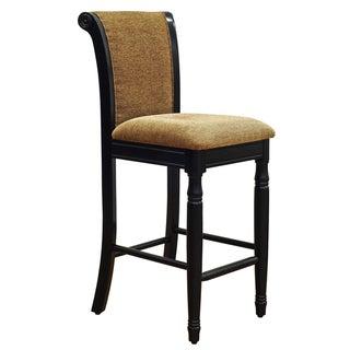 Beige Chenille Fabric Upholstered Barstool