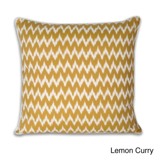 Thro Ian Ikat Faux Linen 20-inch Decorative Pillow