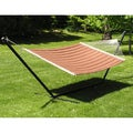 Grand Quilted Two-person Hammock and Stand Set
