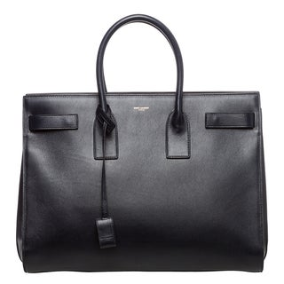 Saint Laurent Classic 'Sac Du Jour' Navy Leather Bag