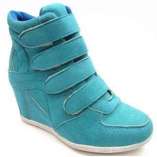 Blue Children's 'K- Kris' Turquoise Wedge Shoes