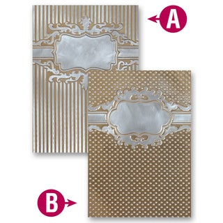 Spellbinders M-Bossabilities A4 Card Embossing Folder-Framed Petite Labels