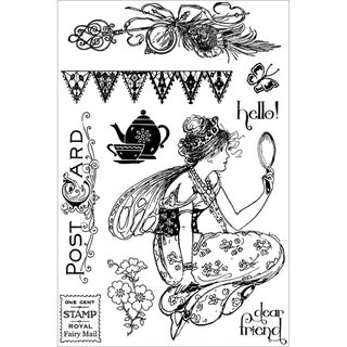 Fairy Rhymes Cling Stamps 4&quot;X6&quot;-10 Images