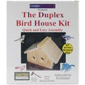 Duplex Wood Bird House Kit-Unfinished