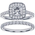 Platinum 2 1/2ct TDW Princess Diamond Bridal Set