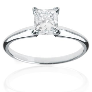 14k White Gold 1ct TDW Princess Diamond Engagement Ring (G-H, VS1-VS2)