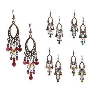 Antiqued Daisy Chandelier Earrings