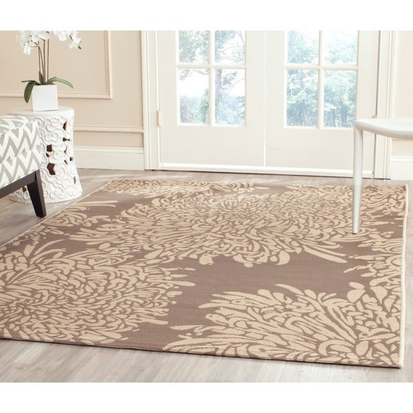 Martha Stewart Chrysanthemum Dark Beige Beige Indoor