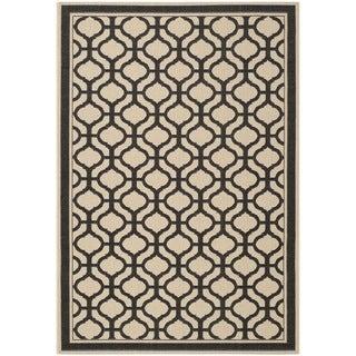 Martha Stewart Tangier Cream/ Black Indoor/ Outdoor Rug (6'7 x 9'6)