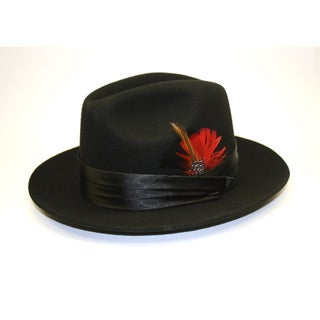 Ferrecci Kid's Black Stingy Fedora Hat
