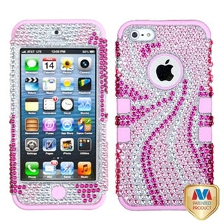 BasAcc Pink Phoenix Tail Diamante TUFF Hybrid Case for Apple� iPhone 5
