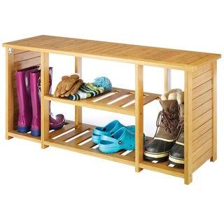 Bamboo Shoe Bench