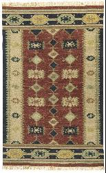 Hand-knotted Nara Vista Flat Weave Wool Rug (8' x 10')