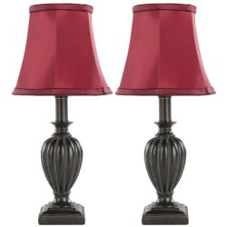 Safavieh Indoor Weston Red Silk 1-light Table Lamps (Set of 2)