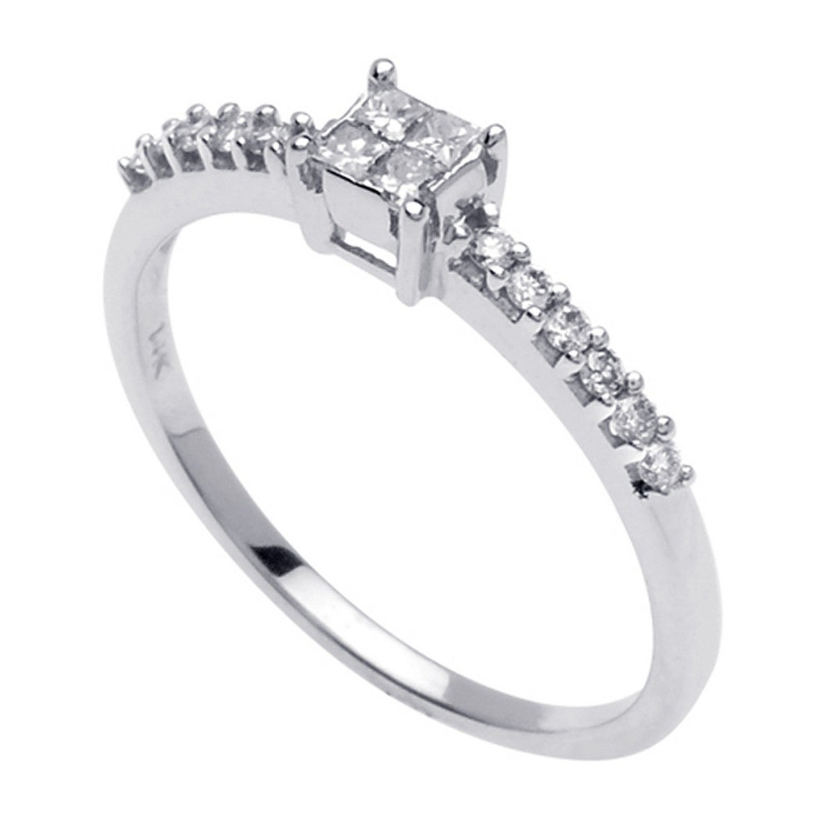 14k White Gold 2/5ct TDW Diamond Engagement Ring (G-H, SI1-SI2)