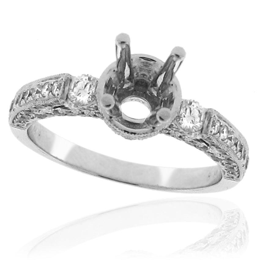14k White Gold 7/8ct TDW Diamond Round Engagement Ring (G-H, SI-1/SI-2)