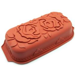 Freshware Rose Pattern Pound Cake Silicone Mold/ Pan