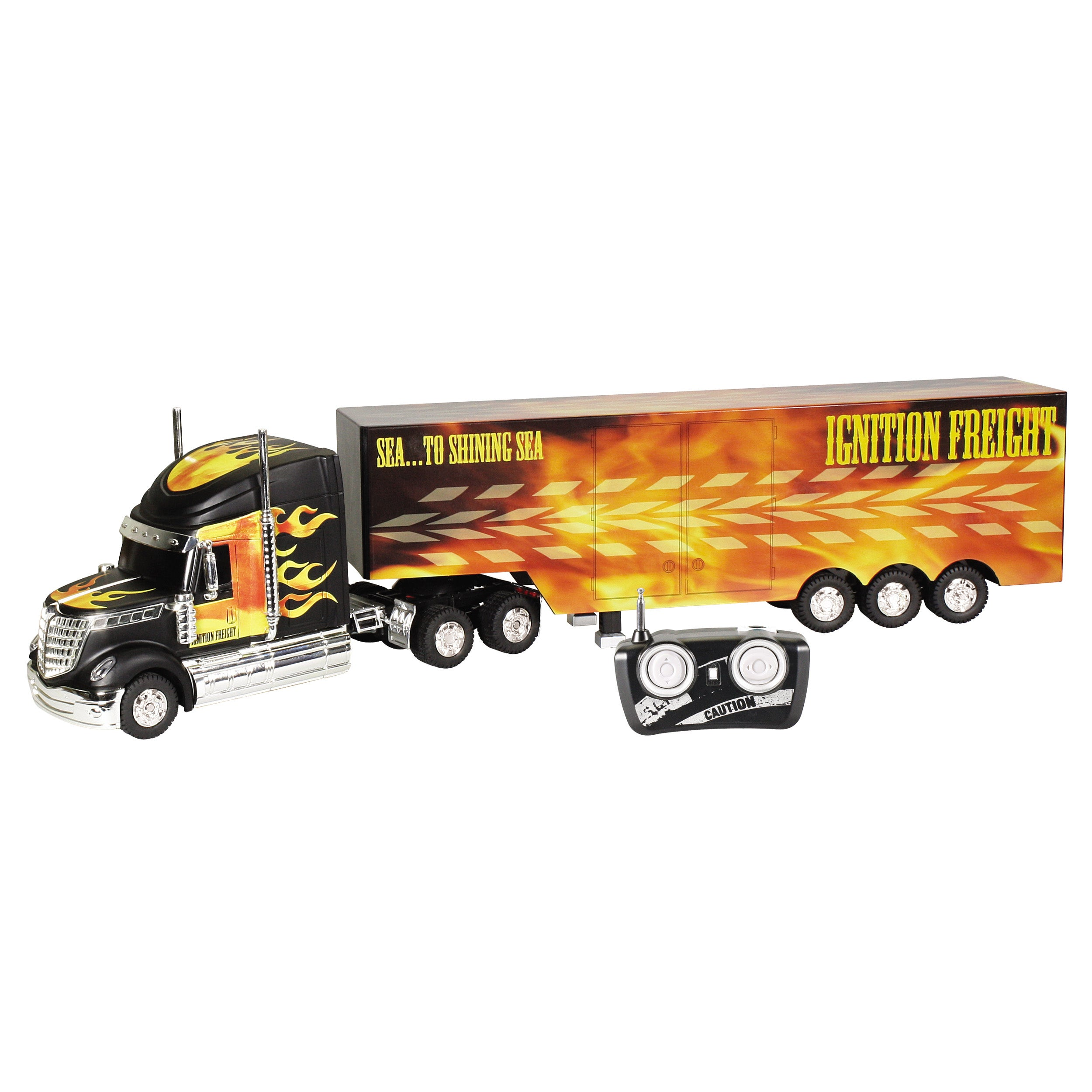 World of Wheels 'Flames' RC Tractor Trailer
