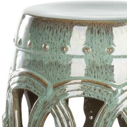 Safavieh Paradise Double Coin Blue Ceramic Garden Stool