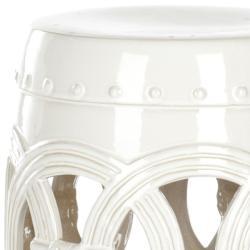 Safavieh Paradise Double Coin White Ceramic Garden Stool