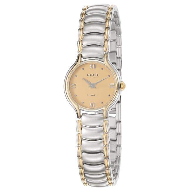 Rado Women's 'Florence' Gold-plated Stainless Steel Watch