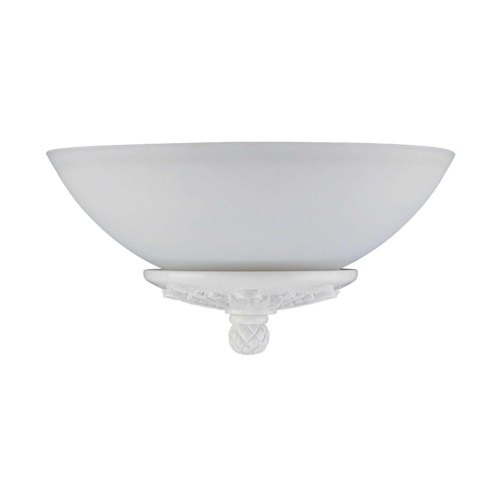 Three Light White Ceiling Fan Light Kit