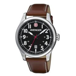 Wenger Men's TerraGraph Black Dial Brown Leather Watch - 0541.102