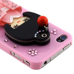 Light Pink Kimono Girl Mirror Snap-on Case for Apple iPhone 4/ 4S