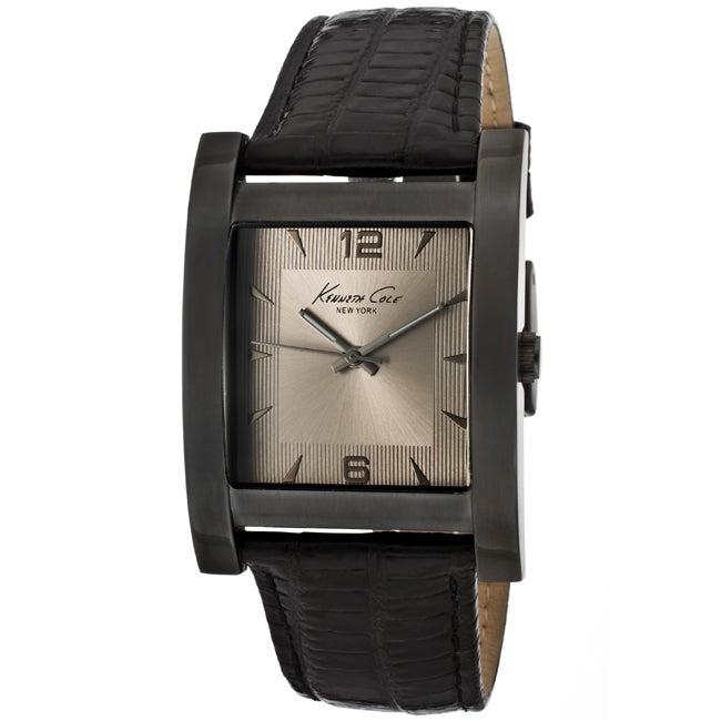Kenneth Cole Men's Black Genuine Leather Watch