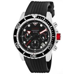Red Line Men's 'Piston' Black Textured Silicone Watch
