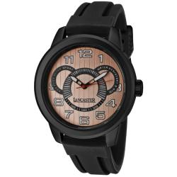 Lancaster Italy Men's 'Non Plus Ultra/Sport' Black Silicone Watch