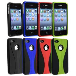 Green/ Dark Blue/ Black/ Red Snap-on Case for Apple iPhone 4/ 4S