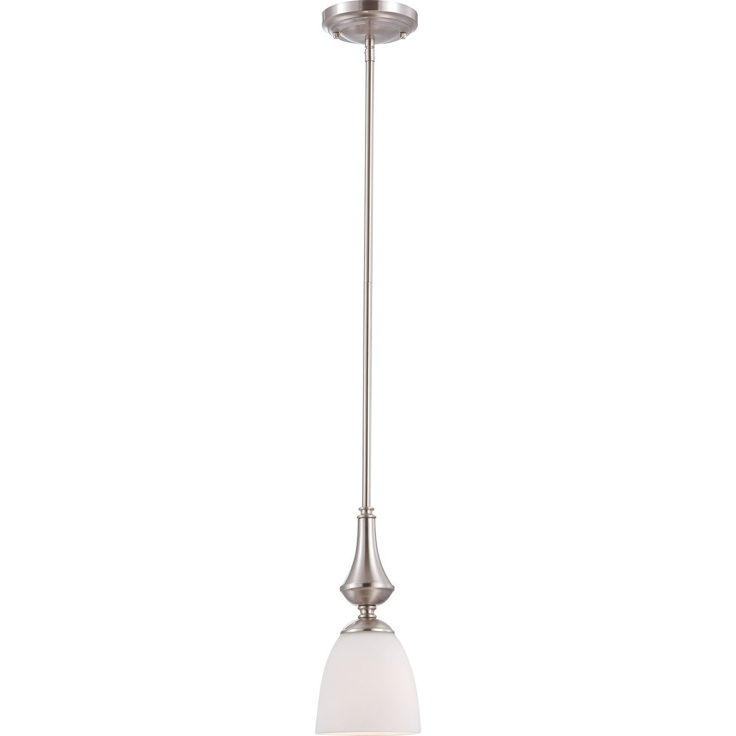 Nuvo 'Patton' 1-light Brushed Nickel Fluorescent Mini Pendant