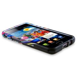 Black Rubber Coated Case/ Chargers for Samsung© Galaxy S II/ S2 i9100