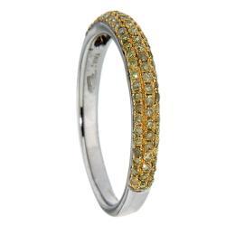 D'sire 10k White Gold 3/7ct TDW Yellow Diamond Ring