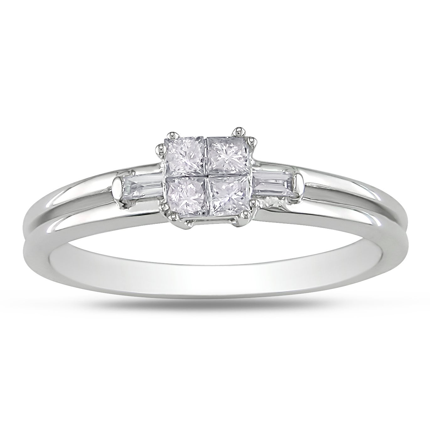 Miadora 14k White Gold 1/4ct TDW Diamond Ring (G-H, I1-2)