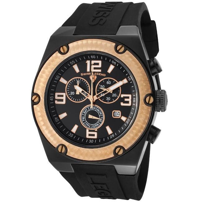 Swiss Legend Men's SL-30025-BB-01-RB Throttle Black Watch