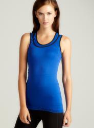 Calvin Klein Compression Tank In Blue