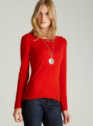 Evelyn Cashmere Tangerine Cashmere Pullover