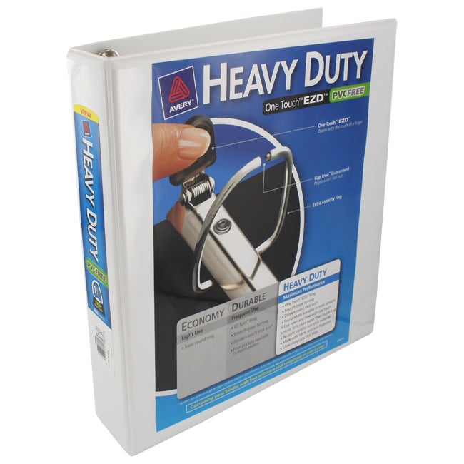 Avery Heavy Duty One Touch EZD White 1.5-inch D-Ring Binders (Pack of 6)