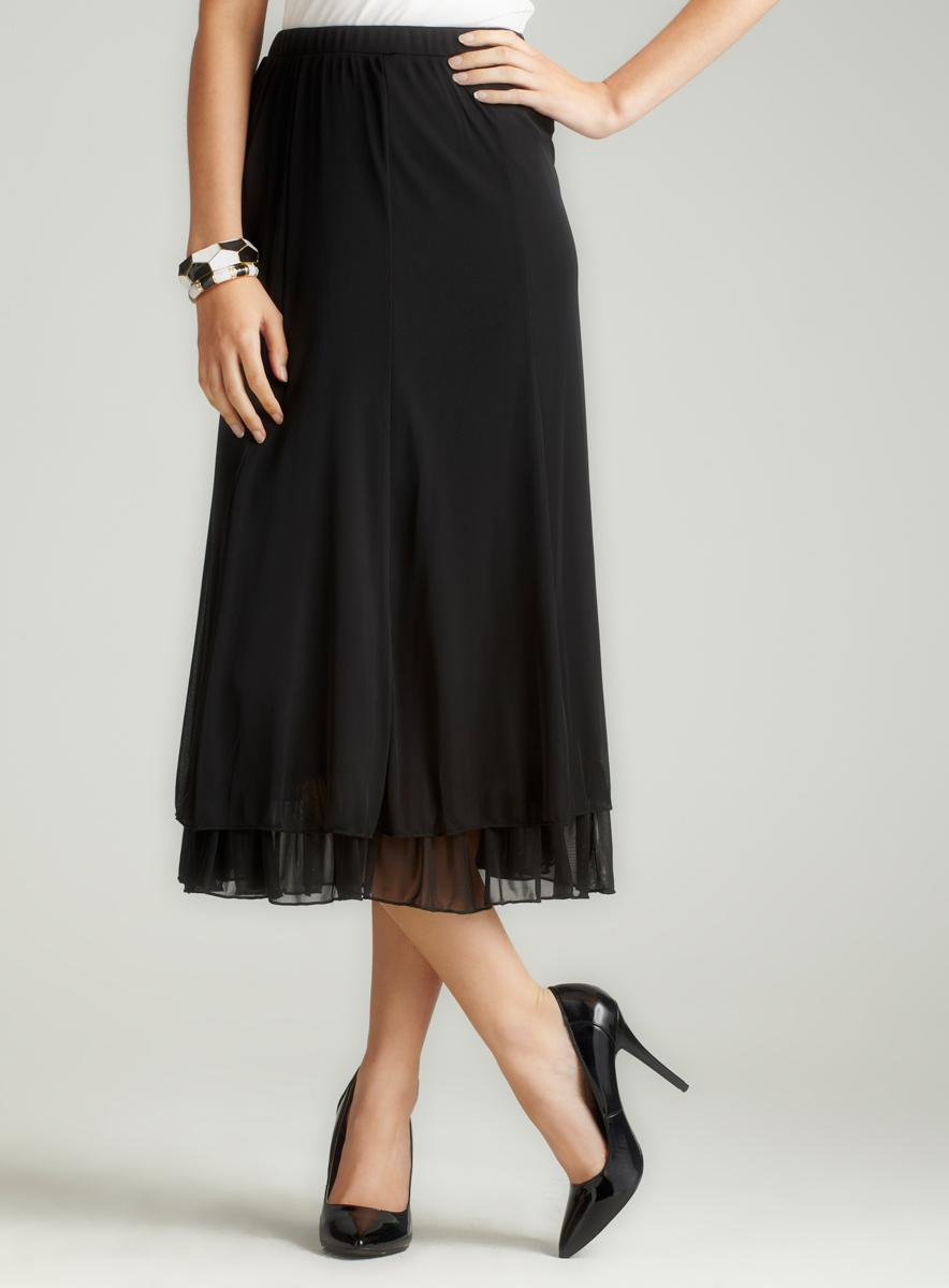 MSK Double Tiered Hem Skirt
