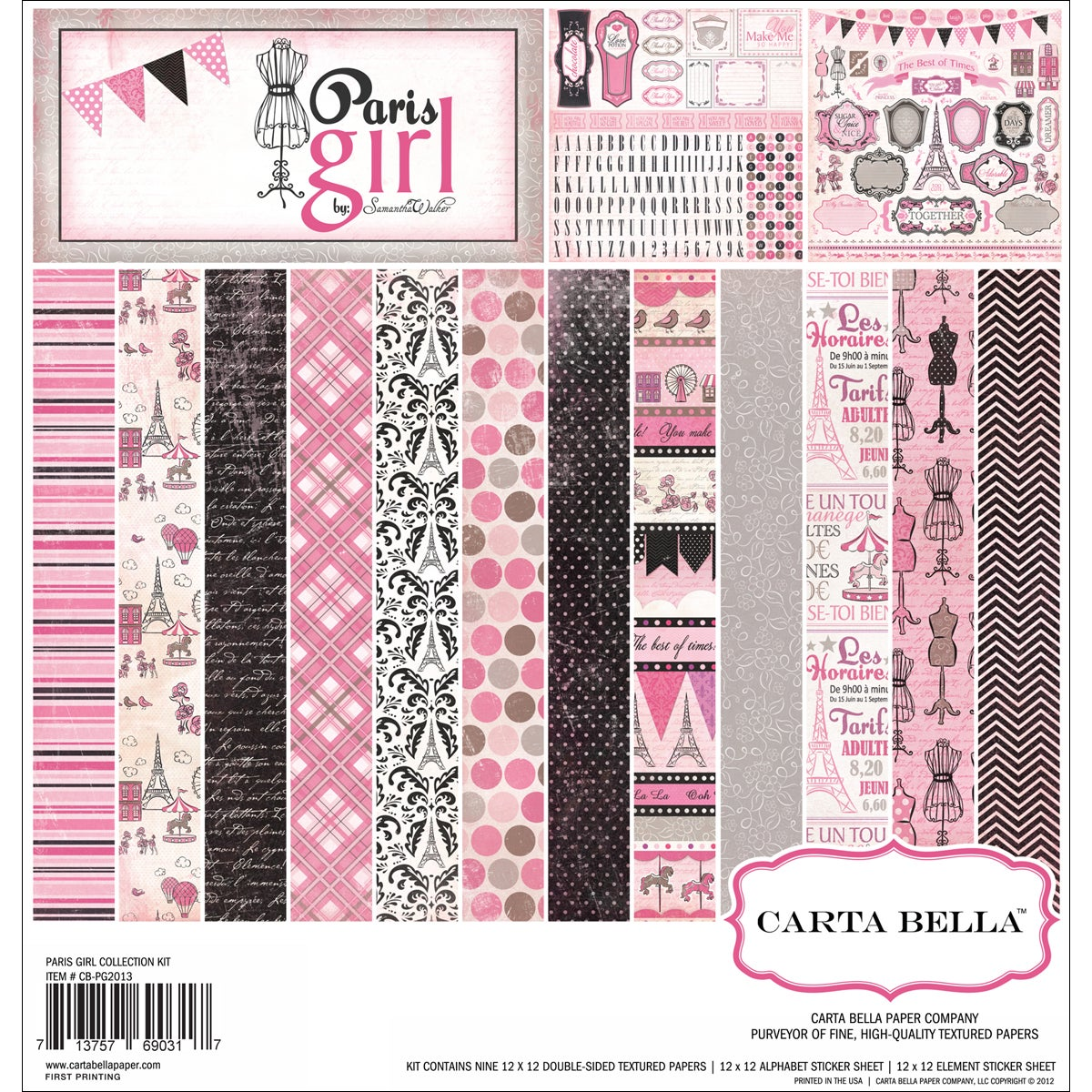 "Paris Girl Collection Kit 12""X12""-"