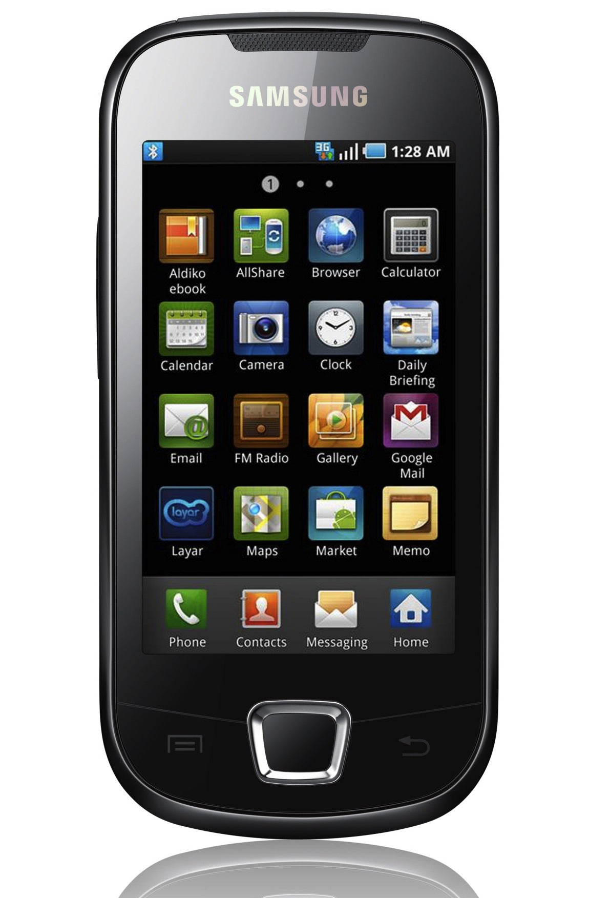 Samsung Galaxy 3 Apollo I5800 Unlocked GSM Android Cell Phone