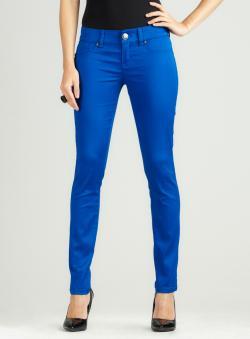 Seven 7 Skinny Satin Jean In Cobalt