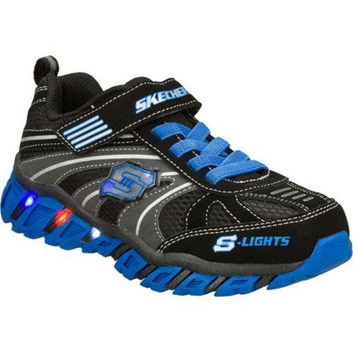 Boys' Skechers S Lights Pillar Ignus Black/Blue