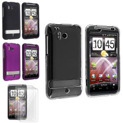 Clear/ Black/ Purple Cases/ LCD Protector Set for HTC ThunderBolt 4G